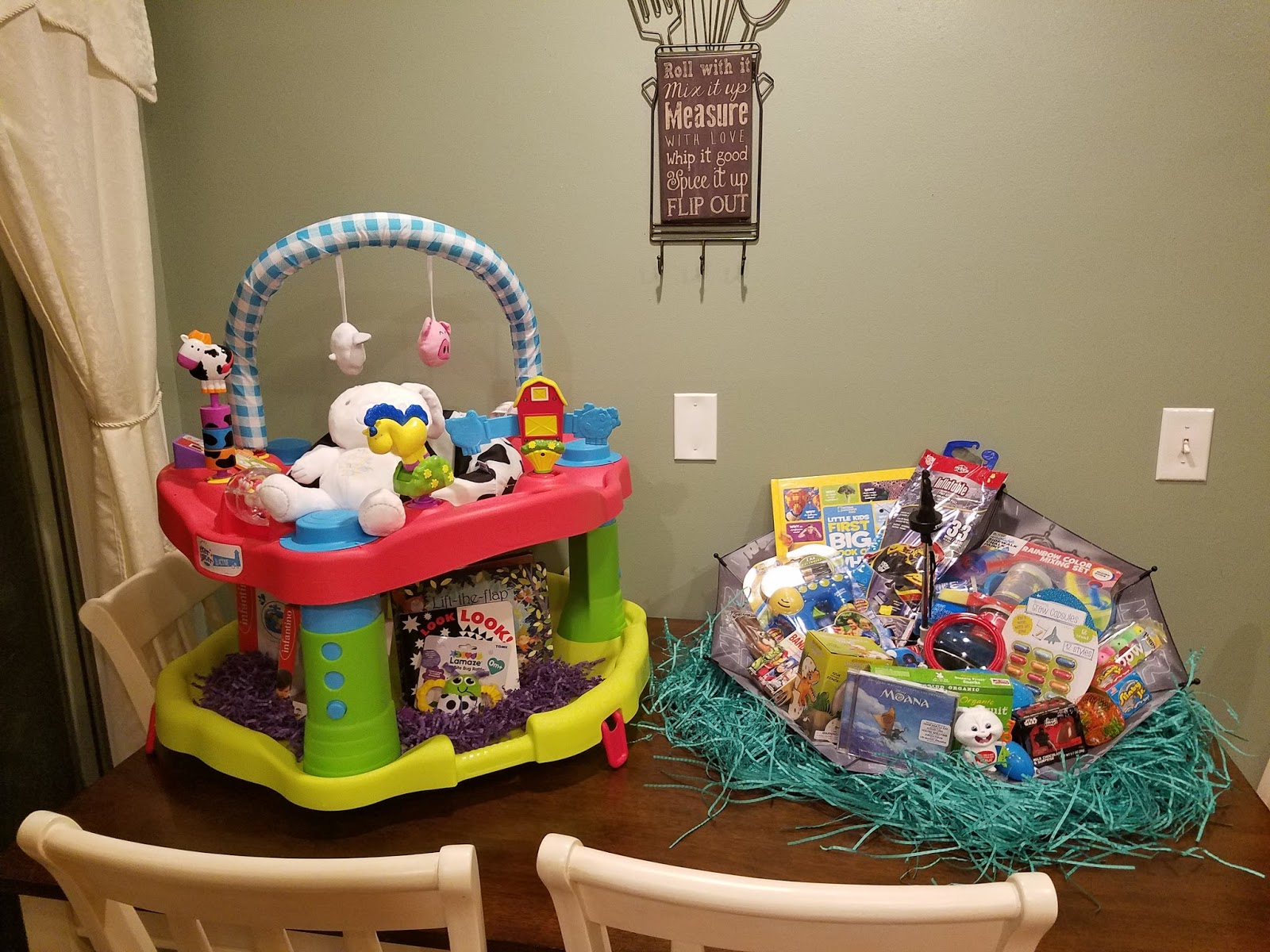 Easter basket ideas reclaiming my sanity the evenflo exersaucer moovin groovin bought at toys r us negle Images