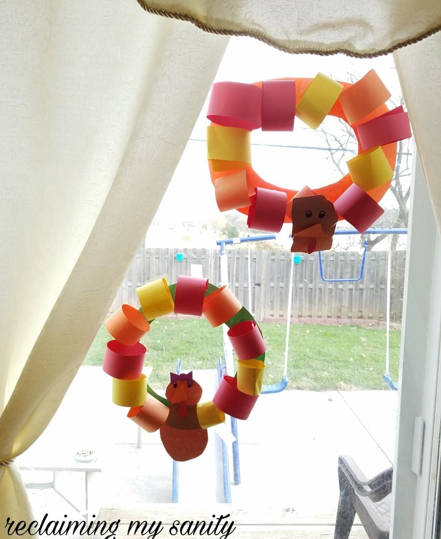 Turkey wreaths craft project