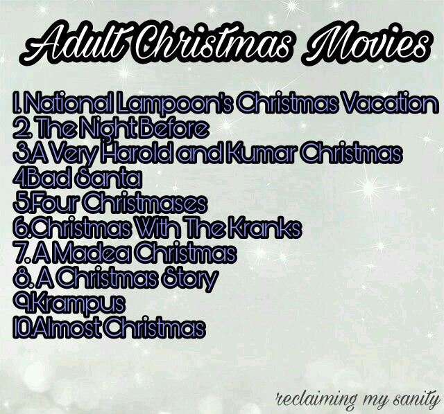 Adult Christmas Movies