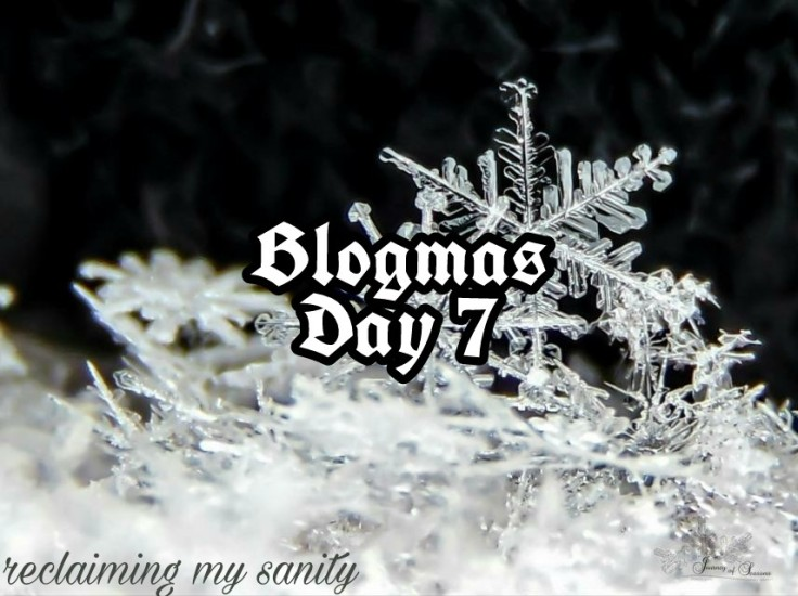 Blogmas Day 7 reclaiming my sanity