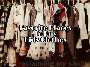 Favorite places to buy kids clothes
