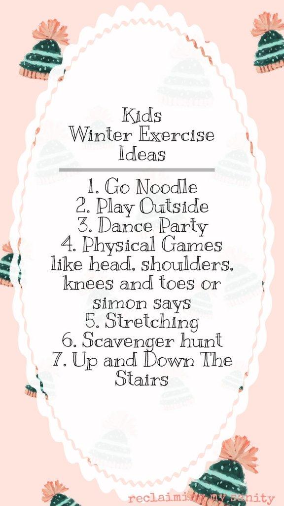 Kids winter exercise activities